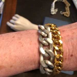 hand made Jewelry - Silver and gold bracelet. NWOT